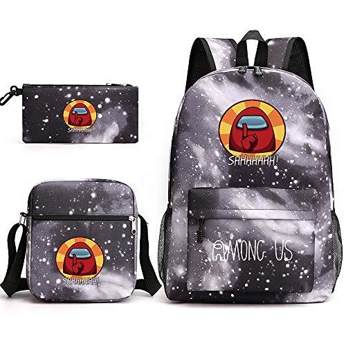 MAICLE Unisex Multifunktionaler Rucksack Leinwand Schulrucksack Cartoon Lässige Rucksack Büchertaschen
