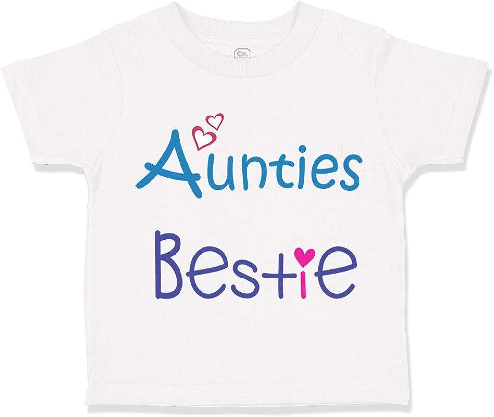 Custom Toddler T-Shirt Aunties Bestie Heart Aunt Cotton Boy  Gi
