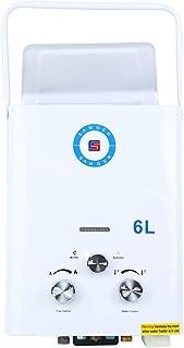 TryESeller Calentador de agua sin tanque 6L Caldera de agua instantánea Gas de petróleo licuado Quemador