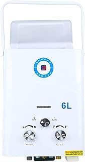 Samger Samger Calentador de agua sin tanque 6L Caldera de agua instantánea Gas de petróleo licuado Quemador de agua caliente LPG