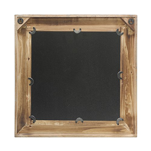 Stonebriar Square Wooden Mirror with Nautical Rope Detail, Beachside Home Décor for Kitchen, Living Room, Bathroom, and Hallway