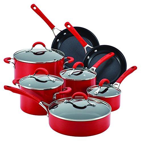 Circulon Innovatum Aluminum Nonstick Cookware, Red (12 Piece Set)