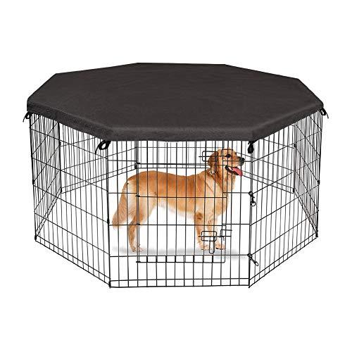 8-teiliges Laufgitter-Abdeckung, Sonnenschutz für Haustiere, achteckig, Kaninchen, Hunde, Käfig, Sonnenschutz, Netzabdeckung, faltbarer Käfig