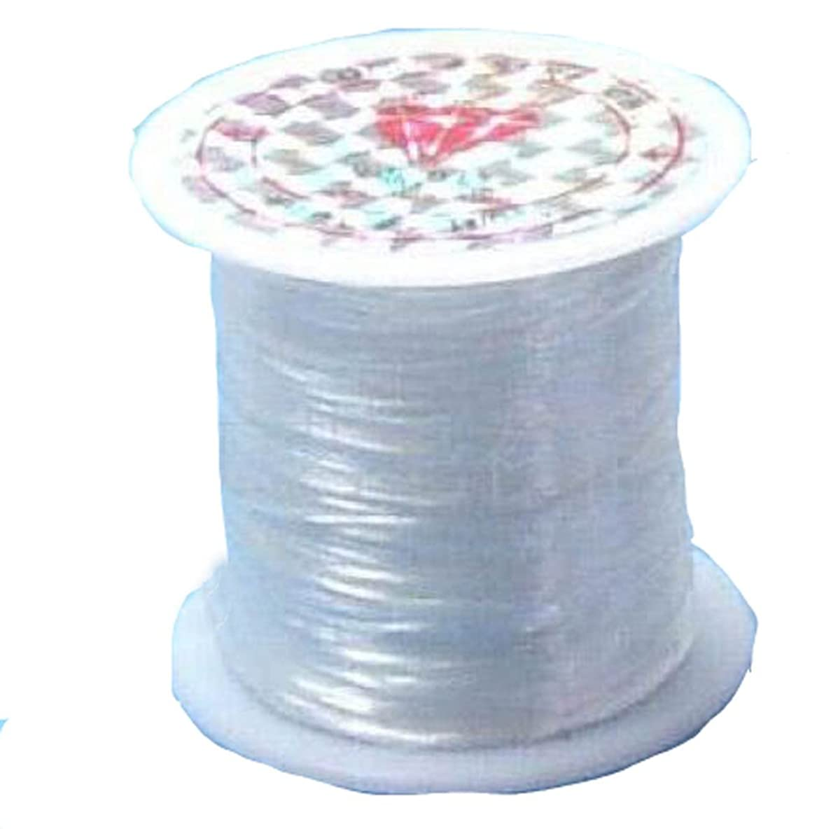 YOYOSTORE 1x 40m Roll 0.4mm Cord Thread Beading String Fishing Strong Wire Jewelry Make Tool