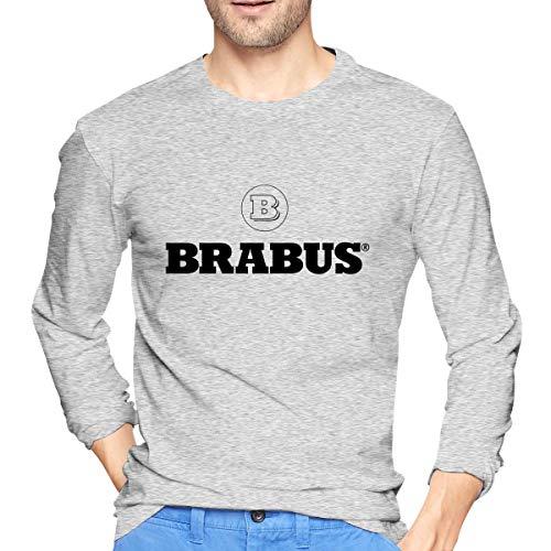 ArmyZ Heren T-Shirts Brabus-logo Lange mouwen Tee Casual Katoenen Jersey Shirts