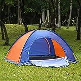 Tente de Camping, 2 Personnes Plage Ultra legere Pliante Igloo Tentes Dôme Double Couche Ventilée Imperméable avec Moustiquaire, Tentes Anti UV avec 2 Portes pour Familiale Bivouac Randonnée Sejour