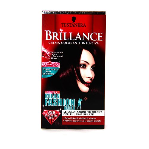 Haarfarbcreme Brillance Milano Fashion Week 896 schwarz rot Seide