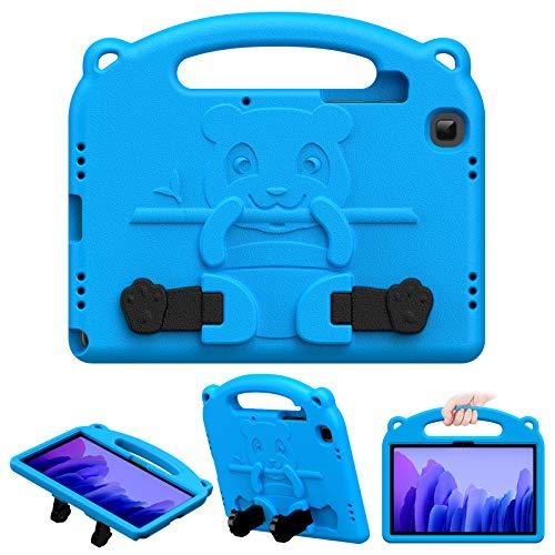 MoKo Funda Compatible con Samsung Galaxy Tab A7 10.4 Inch 2020 Model (SM-T500/505/507), Cubierta Protectora de Espuma EVA Resistente para Niño con Soporte de Manija para Niños, Azul