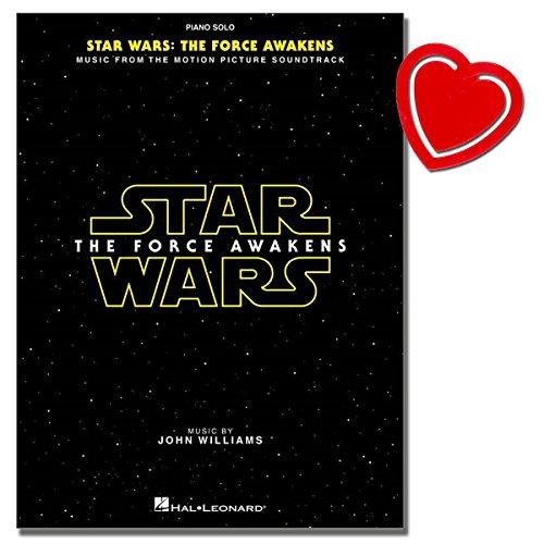 Star Wars: Episode VII - The Force Awakens (Piano) - alle Titel von John Williams aus dem Soundtrack des langersehnten siebten Films - mit herzförmiger Notenklammer