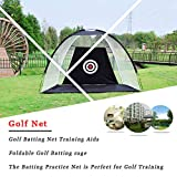 WUTONG Golf Nets for Backyard Chipping Practice Net Foldable Golf Batting cage The Batting Practice Net is...