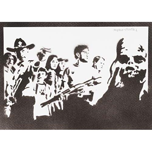 Poster The Walking Dead Handmade Graffiti Street Art - Artwork