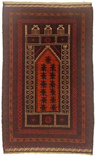 Nain Trading Belutsch 136x83 Orientteppich Teppich Braun Handgeknüpft Afghanistan