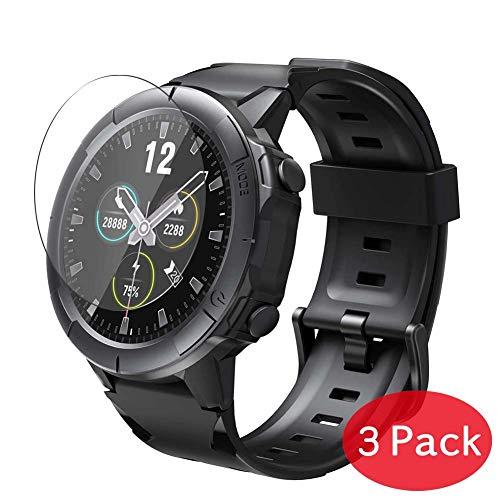 VacFun 3 Piezas Vidrio Templado Protector de Pantalla Compatible con Arbily SW01 Smartwatch Smart Watch, 9H Cristal Screen Protector Película Protectora Reloj Inteligente Pulsera New Version
