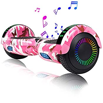 EPCTEK 6.5  Hoverboard for Kids Adults - UL2272 Certified Self Balancing Hover Board w/Bluetooth Speakers LED Light