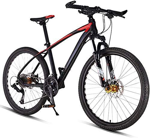 QAZWSX Mountain Bikes,26 Inch 27-Speed Dual Disc Brake Hardtail Mountain Bike, Mens Women Adult All Terrain Mountain Bike, Adjustable Seat & Handlebar,Red