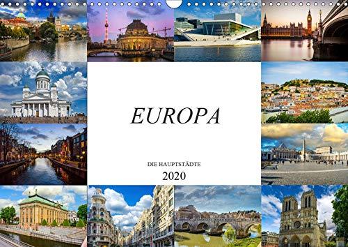Europa Die Hauptstädte (Wandkalender 2020 DIN A3 quer): Zwölf wunderschöne Bilder der schönsten Städte Europas (Monatskalender, 14 Seiten ) (CALVENDO Orte)
