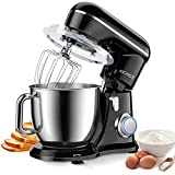 KICHOT Stand Mixer, 10+1 Speed 4.8QT Electric Mixer, Tilt-Head Household Stand Mixers with Dough Hook, Mixing Beater, Wire Whisk & Splash Guard Attachments for Baking, Cake, Cookie, Kneading