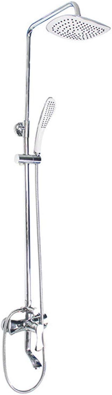 Duschsule JIEBAO Fcherfrmiger Duschkopf Hhenverstellbarer Kupferhahn Drei Wasseraustrittsmodi Unterputz
