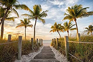 Footbridge to Smathers Beach In Key West, Florida Photography A-91245 (12x18 Fine Art Print, Home Wall Decor Artwork Poster)