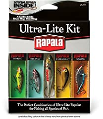 Pro picked lures Rapala swimming actions Ultra lite sizes Bonus item Great as a gift