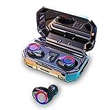 TEEKOO Auriculares Bluetooth Inteligentes, IPX7 TWS Auriculares inalámbricos Bluetooth Pantalla Digital Auriculares táctiles