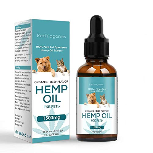 The PawStore 100 % Natural Organic Hemp Oil for Pet Dogs and Cats Anxiety Relief, Top Grade