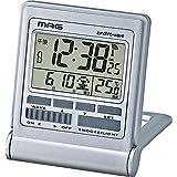 MAG(マグ) 目覚まし時計 電波 デジタル ミネルバ 温度 カレンダー表示 折りたたみ シルバー T-714SM-Z