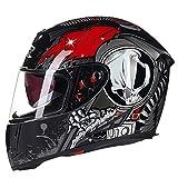 Qianliuk Cascos Moto Full Face Invierno Caliente Doble Visera Racing Moto Casco capacete Casco Modular Moto Helmet
