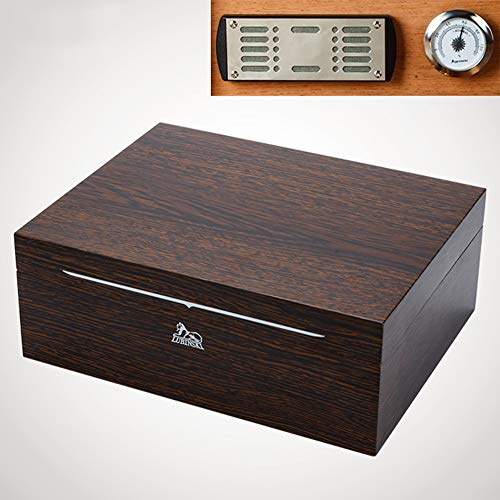 AP.DISHU Desktop Cigar Humidor with Humidifier and Hygrometer Humidor Spanish Cedar Material for Storing and Maintaining Cigars The Best Choice for Collectors (Holds 30 Cigars),#b