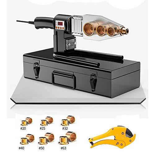 CX TECH Muffenschweißgerät Kunststoffrohrschweißgerät Handschweißgerät PPR, PE, PP, PVC-Rohr, Schweißset
