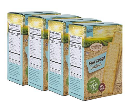 Something Good Flat Crisps Original Crackers Gluten Free 100 % Natural and Kosher 5.29 Oz 4 Pack