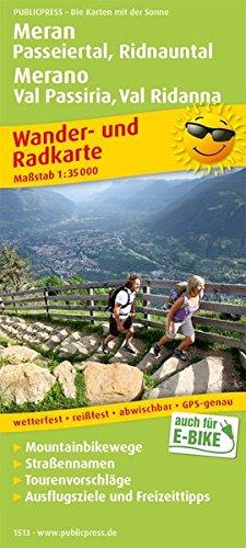 Meran, Passeiertal, Ridnauntal / Merano, Val Passiria, Val Ridanna: Wander- und Radkarte mit Ausflugszielen & Freizeittipps, wetterfest, reißfest, ... 1:35000 (Wander- und Radkarte: WuRK)