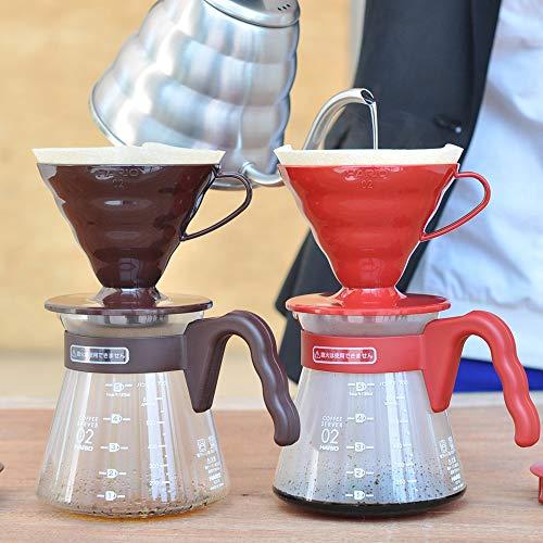 ハリオ HARIO ハリオ コーヒーサーバー V60 02セット コーヒードリップ 1~4杯用 ブラウン VCSD-02CBR