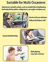 子供のためのターンテーブルのトップのおもちゃのための赤ちゃんの回転トップのおもちゃ、吸盤風呂水のスピンおもちゃ動物の花の風車おもちゃ創造的な教育玩具楽しいバスタイム (Color : 3 PCS, Size : Insect-2)