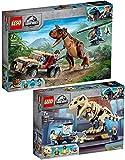 BRICKCOMPLETE Lego 76940 T. Rex - Juego de 2 esqueletos de fósiles y 76941 persecución del Carnotaurus