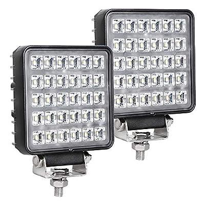 EXZEIT Waterproof LED Work Lights for Truck, 150° Flood Led Light Bar, 90W 4200LMS Off Road Lights?4.3inches, 12/24 V Led Light Bar
