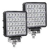 Exzeit Waterproof LED Work Lights for Truck, 150° Flood Led Light Bar, 90W 4200LMS Off Road Lights,4.3inches, 12/24 V Led Light Bar