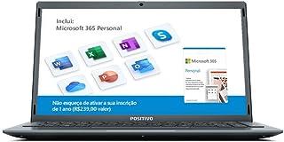 "Notebook Positivo Motion Q4128C Intel® Atom® Quad-Core™ Windows 10 Home 14.1"" - Cinza – Inclui Microsoft 365*"