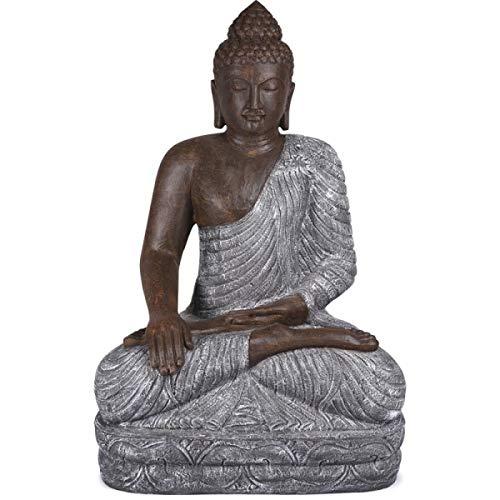KOH DECO Grande Statue Bouddha 150 cm - Bicolore
