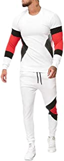 Mens Casual 2 Pieces Sweatshirt + Pants Running Jogger Tracksuit Sport Suit