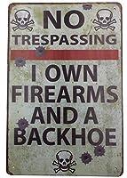 メタルブリキ看板 警告 No Trespassing Danger ビンテージ壁装飾 屋外 家庭 ビジネス レター アートサイン 12インチ×8インチ