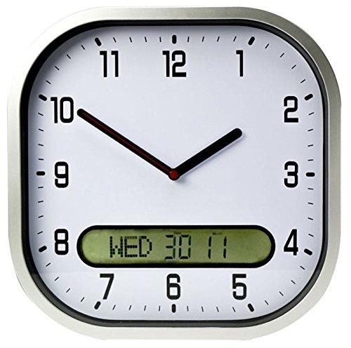 Lifemax - Reloj de pared con fecha y hora clara