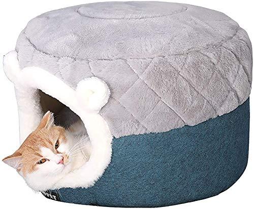 XiYou Hundebett Betten Deluxe Soft Dog, Hund Katze für kleine mittlere, Katzennest Haus für Hundesofa wärmende Hunde Haus, klein, klein