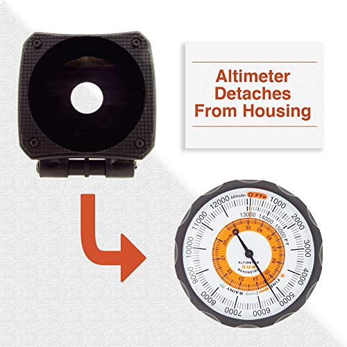 Sun Company AltiLINQ - Dashboard Altimeter and Barometer | Altimeter for Car and Truck | Reads Altitude from 0 to 15,000 Feet