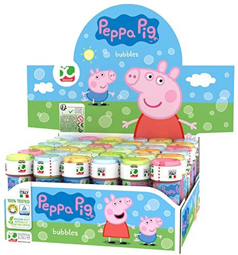 Dulcop- Bolle di Sapone Peppa Pig, Multicolore, 60 mL, 103.597000