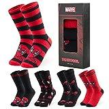 Marvel Socken Herren, Deadpool Herren Socken 5er Pack, Lustige Socken