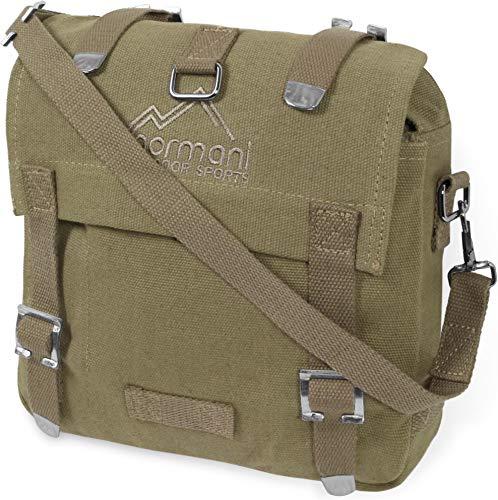 normani BW Kampftasche klein Umhängetasche Canvas Bag in vielen Farben Farbe Coyote