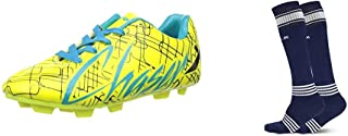 Vector X CHASER-KIDS-GRN-BLK-FIROZI-11 Football Shoes11 UK (multicolour)