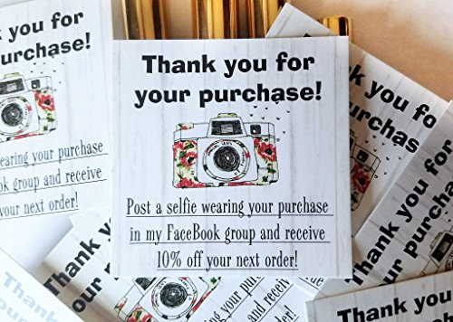 Post A Selfie Cards for Direct Sales Packages | Package of 50 | MLM LipSense by SeneGence, LuLaRoe, Younique, Avon, Mary Kay | Post A Selfie In My FaceBook Group for 10% off your next order