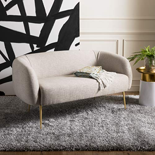 Safavieh Couture Collection Alena Glam Oatmeal Loveseat